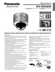 دوربین مداربسته پاناسونیک مدل WV-NW484S